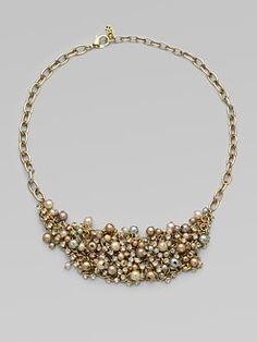 ABS by Allen Schwartz Jewelry - Chain Link Bib Necklace