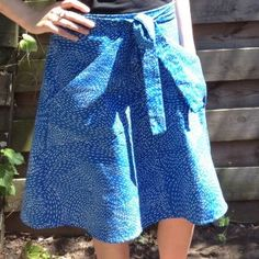 Miette skirt Tilly and the buttons. wrap skirt, flared. Ikea fabric