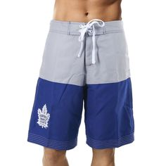 Never leave your team behind and represent your favourite NHL team right to the beach in these Toronto Maple Leafs Boardshort. Color Blocking, Colour Block, Toronto Maple Leafs, Looks Great, Leaves, Fitness, Boardshorts, Swimwear, Submission
