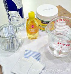 Homemade Eye Makeup Remover. 3 simple ingredients!