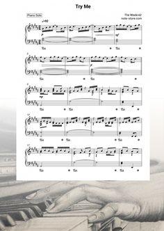 Ноты The Weeknd - Try Me - Пианино.Соло Sheet Music, Songs, Music Sheets