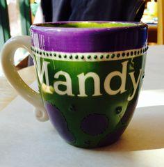 Mandy's mug - more green than the last one.