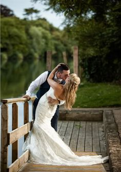 Put this photo on your must have list of wedding photo poses and ideas RIGHT NOW! This Bride Arrived At Her Thames Wedding By Boat! • Wedding Ideas magazine