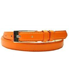 "0.75"" Wide Orange Narrow Dress Lady's Belt"