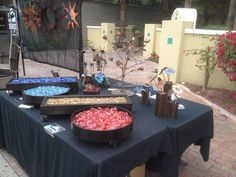 Backyard ideas - custom fire pit tables by AZ Backyard Custom. (480) 216-1469. Let us know you found us on Pinterest! Or visit our website to get your own custom tabletop firepit table.