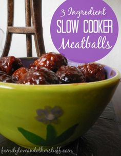 3 Ingredient Slow Cooker Meatballs are perfect for your next party. 3 Ingredients Slow Cooker Meatballs are perfect for your next party. Slow Cooker Recipes, Crockpot Recipes, Great Recipes, Amazing Recipes, Recipes Dinner, Lunch Recipes, Delicious Recipes, Chicken Breast Recipes Healthy, Meatball Recipes
