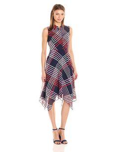 Donna Morgan Women's Hanky Hem Shirtdress at Amazon Women's Clothing store: