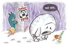 Sad Yeti in the woods.