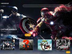 Movie Hub Home screen