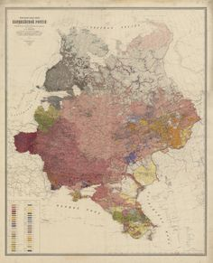 Etnographic map of European Russia by Alexander Rittich, 1875 (open in a new tab to enlarge)
