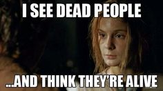 Lizzie Samuels I see dead people. TWD. The Walking Dead. Crazy!!