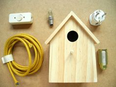 melimelo - bird house lamp - picture tutorial