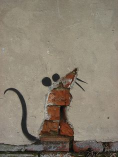 the mouse...great cover up for that hole in your wall!