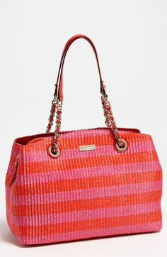 kate spade new york 'pacific heights - sloan' raffia shoulder bag available at Nordstrom