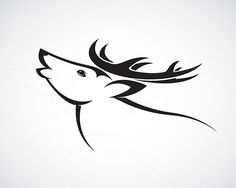 Vector image of an deer head by yod67 on @creativework247