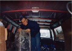 In celebration of our 25th anniversary, every Thursday we post a picture for Throw Back Thursday. #tbt Pictured here is co-owner Bryan Shinn unloading a bottled water cooler. #thewaterguy