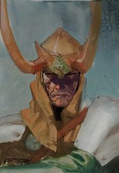 Esad Ribic - Loki, in David Robles's Sketches Comic Art Gallery Room Marvel Comics Art, Marvel Comic Books, Fun Comics, Comic Books Art, Marvel Villains, Thor, Loki Marvel, Avengers, Silver Surfer