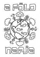 Earth Day coloring page Föld napja színező Earth Day Activities, Nature Activities, Earth For Kids, Earth Day Coloring Pages, School Clipart, Ecology, Kindergarten, Homeschool, Crafts For Kids