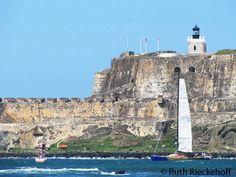 Close up of El Morro, Puerto Rico
