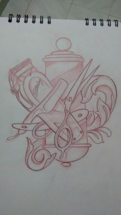 Elementos de barberia Barber Poster, Barber Logo, Barber Tattoo, Tattoo Sketches, Tattoo Drawings, Body Art Tattoos, Sleeve Tattoos, Stylist Tattoos, Barber Shop Decor