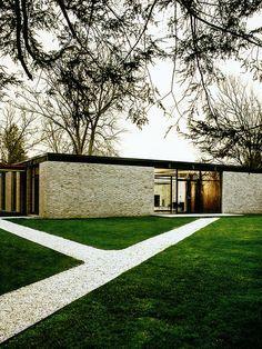 Philip Johnson, Hodgson House, New Canaan Bungalow Gebäude fände ich für… Houses Architecture, Architecture Design, Residential Architecture, Contemporary Architecture, Landscape Architecture, Landscape Design, Philip Johnson, Design Exterior, Modern Exterior