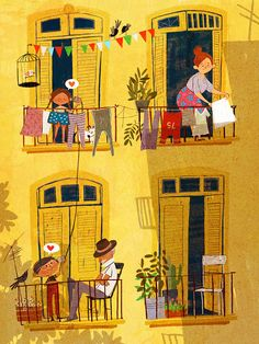 Illustration by Sara Palacios. Boys and Girls. Art And Illustration, Illustrations And Posters, Illustration Children, Flower Illustrations, Buch Design, Illustrators, Art Drawings, Sketches, Art Prints