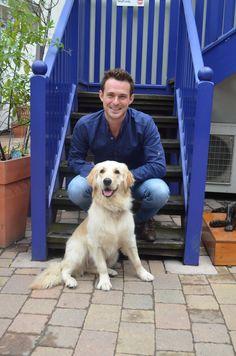 Jules Knight & his rescue dog Honey