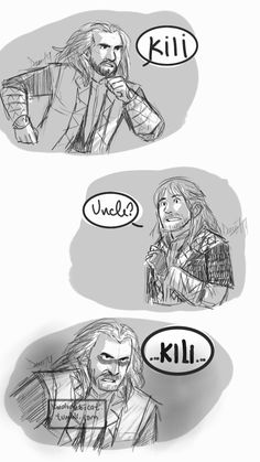 Fili, Kili, And Thorin in the afterlife by kerlunatica. Hobbit x Madagascar
