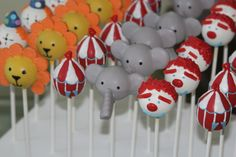 Cake pops for a circus party