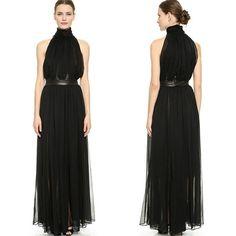 氣質女伶削肩百摺雪紡長洋裝#maxi #dress