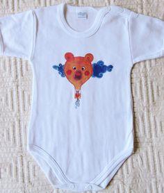 Body neonato con illustrazione mongolfiera in vendita su Etsy!