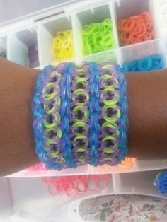 Triple monster inc. Inspired rainbow loom bracelet