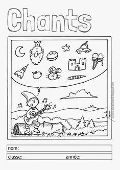 Bildergebnis für page de garde pour chants en maternelle French Expressions, French Teacher, Constellations, Alphabet, Kindergarten, Bullet Journal, Classroom, Teaching, Education