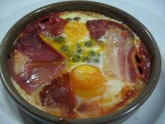 Cazuela de huevos con jamón www.tiendajulianmartin.es