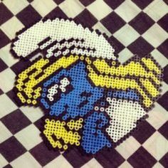 Smurfette perler beads by imbpixel