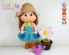 Amigurumi Crochet Patterns by HavvaDesigns. Here you will find interesting ideas and lots of unique Havva Designs Crochet patterns by HavvaDesigns© Crochet Doll Pattern, Crochet Patterns Amigurumi, Amigurumi Doll, Crochet Dolls, Crochet For Boys, Cute Crochet, Crochet Crafts, Crochet Projects, Handmade Dolls Patterns
