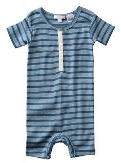 Pure Baby Henley Grow Suit $34.95 www.organicbabe.com.au