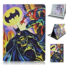 iPad Pro Superman style pu leather stand cover For Apple Ipad Pro 12.9 Superhero case for iPad Pro 9.7 inchTablet Accessories