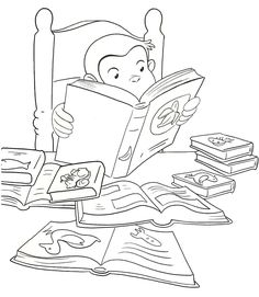 33 Best Curious George Coloring Book Pages Images Coloring Book
