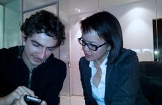Meet the programmers: Thao Duong and Georg Bütler at work.