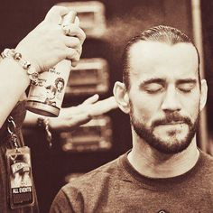 CM Punk can never have enough hairspray