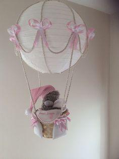 Hot Air Balloon Lamp light shade Tatty Bear Pink