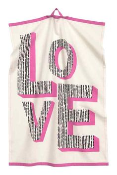Tea towel in cotton fabric with a printed motif. Hanger loop on one short side. World Of Fashion, Fashion Online, Kids Fashion, H & M Home, H&m Gifts, Typography Quotes, Pattern Illustration, H&m Online, Marketing Materials