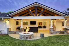 Using Gambrel Roof on Your Traditional House or Barn? Here's Why Gable patio cover and gable roofs by Texas Custom Patios in Houston, TX.Gable patio cover and gable roofs by Texas Custom Patios in Houston, TX. House With Porch, Patio Design, Pergola Plans, Gambrel Roof, Outdoor Kitchen, Building A Porch