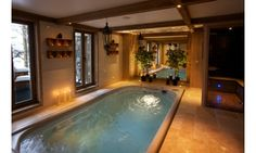Chalet De La Cloche in Tignes sleeps 12-16 people but has the intimate feel of a boutique hotel complete with spa area and sumptuous gourmet catering