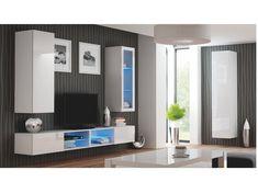 LIVO vzorová sestava 1, bílá Příkladová sestava obývacího pokoje LIWO. Uvádíme pouze jako ilustrativní příklad jedné z možných sestav, kterou lze poskládat z jednotlivých segmentů. Jednotlivé díly si je možno vybrat a koupit každý zvlášť. … Bathroom Lighting, Flat Screen, Mirror, Live, Furniture, Home Decor, Products, Living Room, House