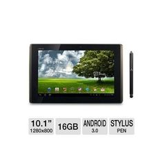 ASUS Eee Pad Transformer 16GB Android Tablet and Targus AMM01TBUS Stylus Bundle