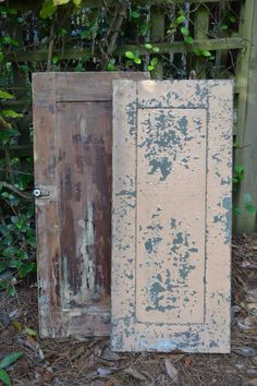 Old cupboard doors #weddings #southerncharm #weddingdecor #rusticweddings #whitebootsbridal