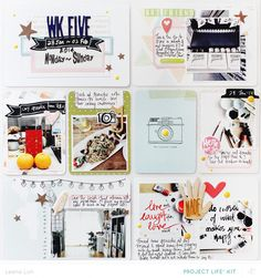 Scrapbook inspo-- without the divided pages.