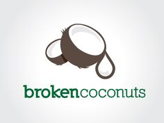 Brokencoconuts Logo designed by Drew Rodgers. Connect with them on Dribbble; Logo Character, Character Design, Typography Logo, Typography Design, Coco Oil, Plant Logos, Beauty Room Decor, Great Logos, Graphic Design Branding